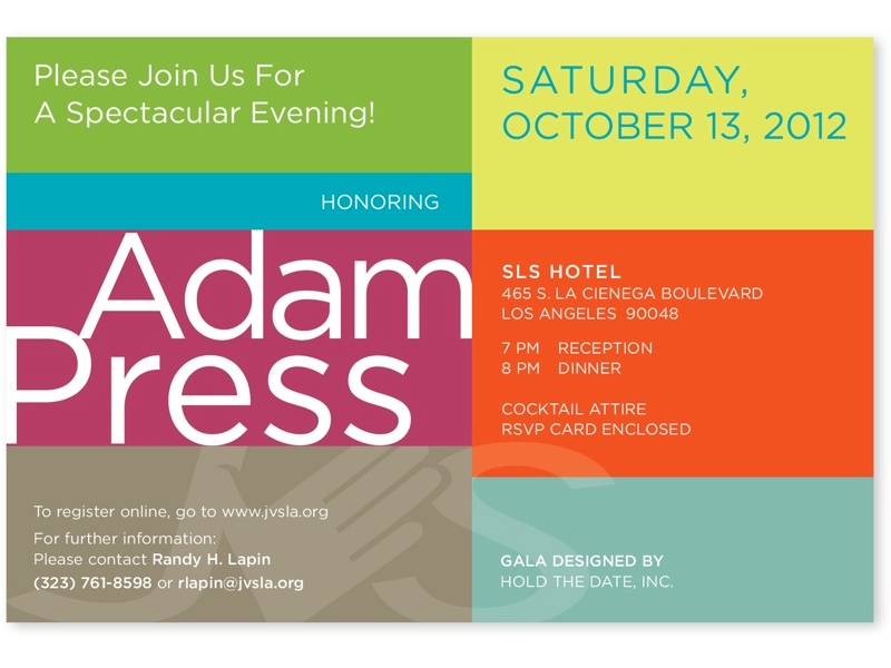 ADAM PRESS INVITE